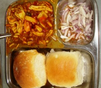 Misal Pav..... Tari is the layer of oil on the surface of the Usal. Purists will never acccept a Usal without Tari.