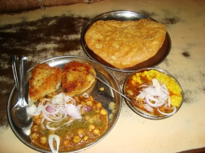 Chole Pattice and Dal Pakwan
