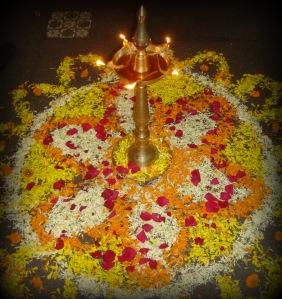 Floral Rangoli, a sacrament