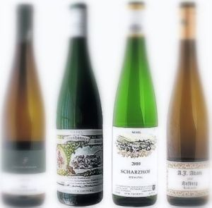 the typical Riesling bottles!