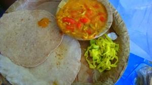 Rice rotis with Sev tamatar