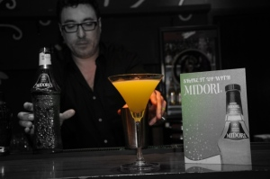 Global brand ambassador Manuel Terron shows not every Midori drink has to be green!