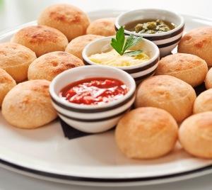 Dough Balls with Pesto,Pesto rosso and garlic butter