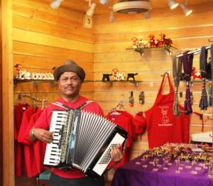 Do pass on your requests to the accordion wielding Mr. Samy Reuben. He will weave a magic for you