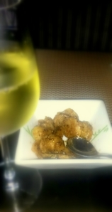 Water Chestnuts in Honey and pepper with Sula Chenin