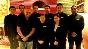 With Satakshi Sood the restaurant manager and her team