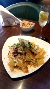 Sparkling Sangria and Harry's nachos