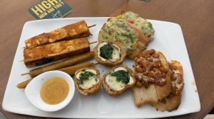 The veggie platter....