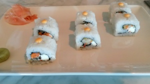 Pickled veggie and cream cheese Sushi
