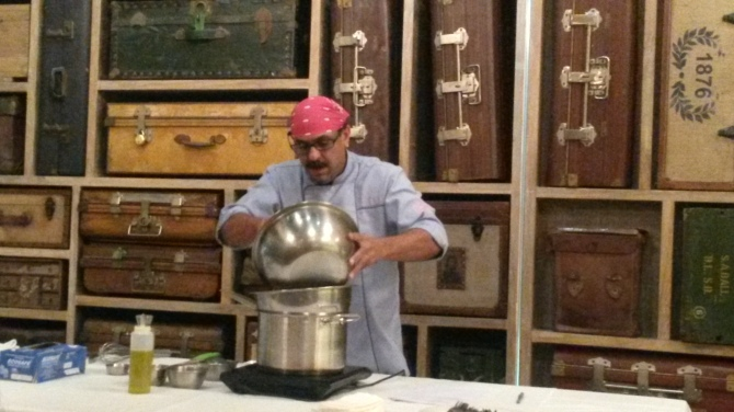 Chef Irfan  from Sassy Spoon in action...