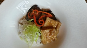 Eggplant and Tofu with Jasmine rice