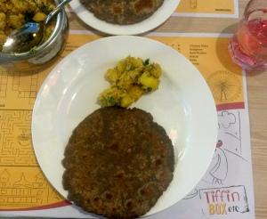 Aloo Poshto and Ragi Roti, Tiffin Box Etc