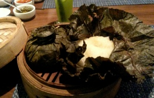Sticky rice and  lotus leaves...