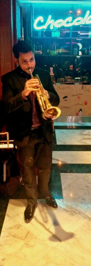 The trumpet resounding