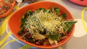 Pear, Rocket and walnut salad with Alfa sprouts....