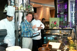 From L to R: Chef Prakash Lopes, Mr Gavin Young and Chef Indrajit Saha (Executive Chef @Sofitel)