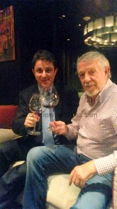 (L) Francois Witasse of Demptos Cooperage with    Spanish winemaking legend Mariano Garcia  during their recent India visit