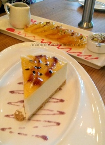 Cheese cake and Jalebi Rabri