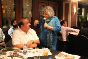Two icons Shatbhi Basu with Sanjay Malkani- an acclaimed Chef