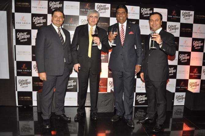Vijay Amritraj Wines Grover Zampa