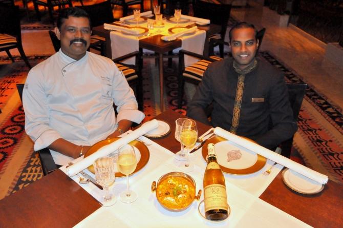 Veg Food and wine at Jamavar, Leela Palace chennai