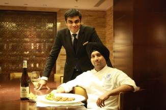 Veg Food and wine at Riwaz, Ritz Carlton, Bengaluru