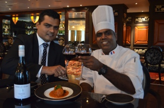 Veg food and Wine at Tuskers Sofitel ,Mumbai,BKC