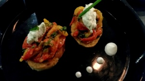 Pepper and Caper bruschetta Hoppipola