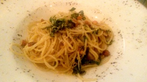 Spaghetti with lemon beurre noisette, parmesan and roasted almonds Sassy Spoon