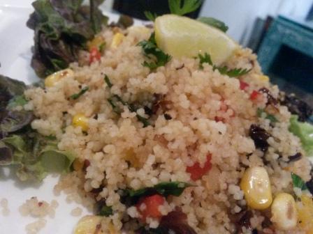 Couscous salad at 5 the restaurant