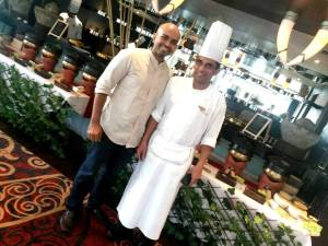 Chef Munichandrudu with Ajit Balgi